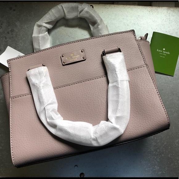 New Authentic Kate Spade Grove Street Small Lana Leather Satchel Crossbody Purse